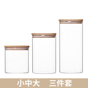Story of water heat-resistant glass storage jar sealed containers
