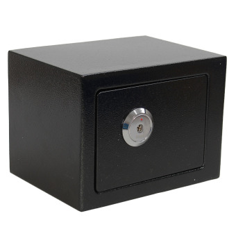 Strong Iron Steel Key Operated Security Money Cash Safe Box W/ Key Home Office - 2