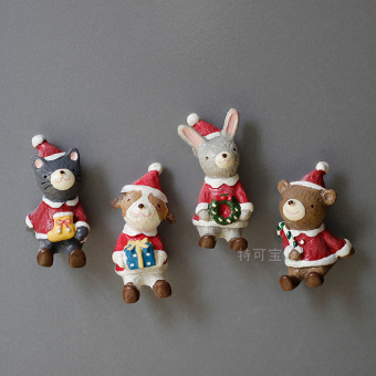 Strong magnet bunny Garland Christmas refridgerator Magnets