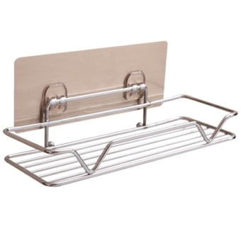 Strong Wall Mounted Sticky Shower Bathroom Kitchen Rack ShelfHolder for Soap Shampoo Bath Towel Cleaning Supplies Kitchen SmallGadgets - intl