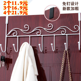 Strong Wrought iron door hanging traceless adhesive hook