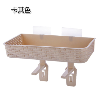 Suction wall bathroom toilet debris storage rack shelf