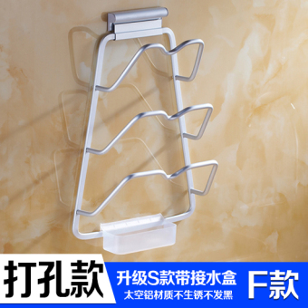 Suction wall-wall hangers kitchen pot rack