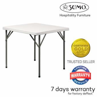 Sumo ST-34S1 34 Square Solid Top Folding Plastic Table (White)