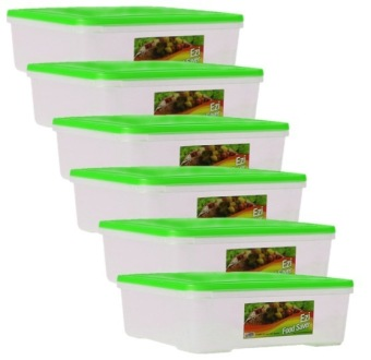 Sunnyware 724 Large Food Keeper Set of 6 (Green)