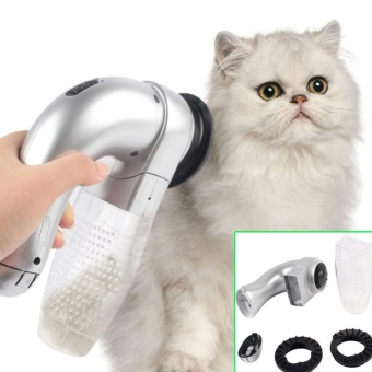Sunshop Pet Hair Remover Shed Pal Cordless Pet Vac Dog Cat Grooming Vacuum System Clean Fur - intl