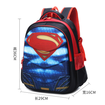 Superman boy's children's kindergarten waterproof backpack young student's school bag
