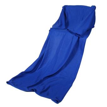 Supper Home Winter Warm Fleece Snuggie Blanket Robe Cloak (Blue) (Intl) - 2