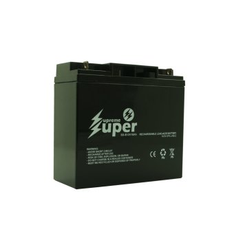 Supreme Super Lead Acid Battery 12V 18Ah SS-B12V18 (Black)