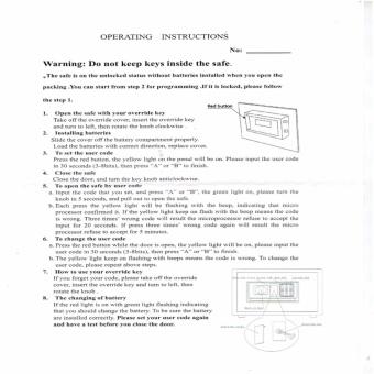 SW-4050E Safe Electronic Digital Safety Vault (D.Grey) - 4