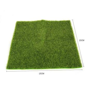 Synthetic Miniature Garden Ornament DIY Craft Pot Artificial LawnGrass Plastic(15 x 15cm) - intl