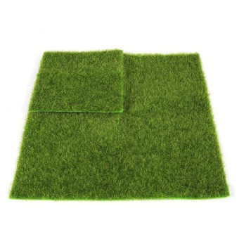 Synthetic Miniature Garden Ornament DIY Craft Pot Artificial LawnGrass Plastic(15 x 15cm) - intl - 5