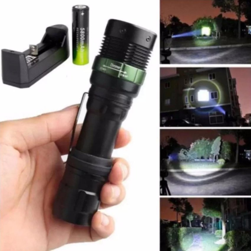 T6 LED Torches Torch Zoomable Flashlight 5 Fashion+Charger +Battery