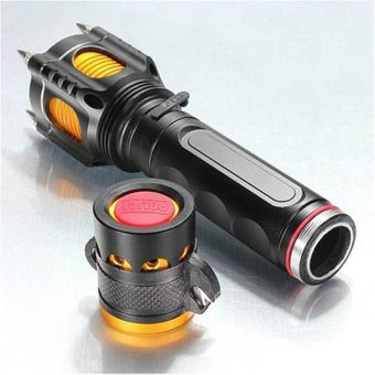 T6 multifunctional anti wolf self-defense tactical flashlight