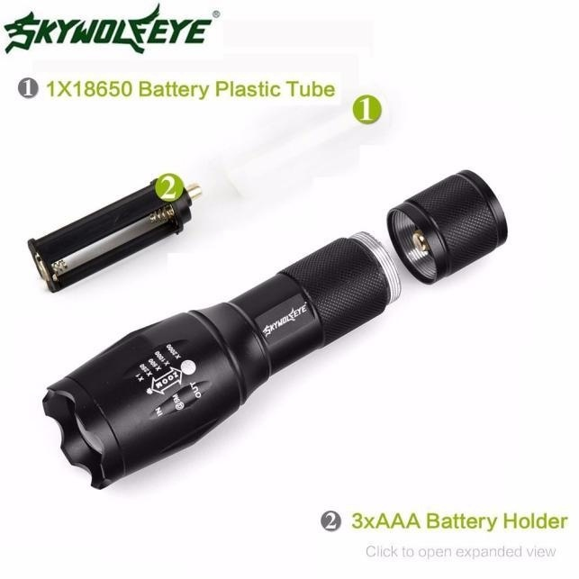 Tactical LED Flashlight G700 SkyWolfeye X800 Zoom Super Bright Military Grade - intl - 5