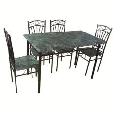 Tailee DS 022 4 Seater Dining Set Black Marble