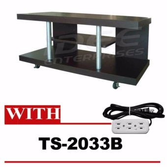 Tailee Furniture #00542 3-Layer TV Rack / TV Stand w/ Caster Wheels(Wenge) w/ TS-2033B 9ft.