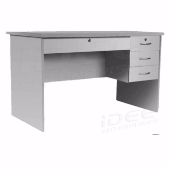 Tailee Furniture #1302 Office Table with 4 Drawers and Lock (Gray)