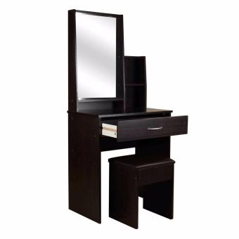Tailee Furniture #1503 Dressing Table with Stool and Mirror (Wenge)