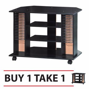 Tailee Furniture #1808 4-Layer Open Type TV Rack / TV Stand with CDRack (Wenge) BUY1TAKE1