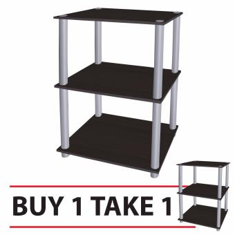 Tailee Furniture #1950ST 3-Layer Open Type Display Rack / Storage(Wenge) BUY 1 TAKE 1 FREE