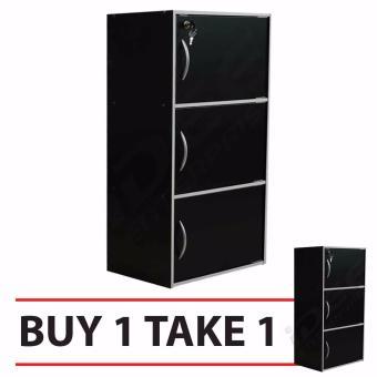 Tailee Furniture ST 300BDF 3 Layer Utility Cabinet Organizer W/ Door And  Lock