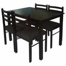 Tailee Starter 4 Seater Rubber Wood Dining Set W Cushion