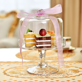 Tall cake cover fruit tray cake dish