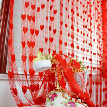 Tassel Line String Drape Curtain for Wall Door Window VestibuleHome Decor Divider 1m x 2m Red Price Philippines