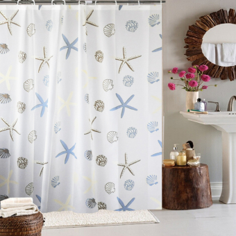 Tatawu waterproof anti-mildew bathroom shower curtain cloth curtain shower curtain Price Philippines