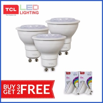 TCL LED LIGHTING 6W MR16 GU10 Set of 3 with FREE 2 MR16 Lamp