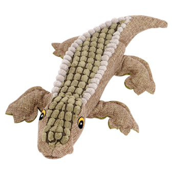Teddy cute plush multicolor crocodile dog toys