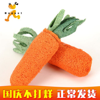 Teddy loofah network carrot molar clean teeth dog toys