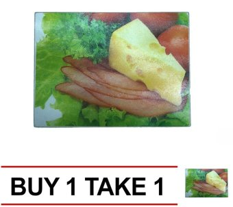 Tempered Glass Universal Kitchen Board (Multicolor) Buy 1 Take 1