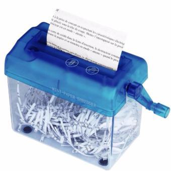 TF Mini household small manual shredders(Blue) - intl