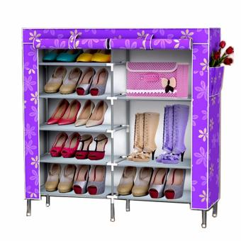 Than's 6-Tier Double cabinet Shoe Rack Storage Cabinet Organizer - 2