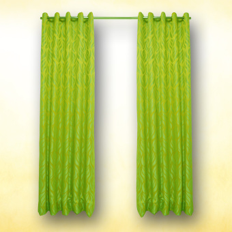 The Curtain Shop Josephine Collection Grommet Curtain (YellowGreen) Single Panel Price Philippines