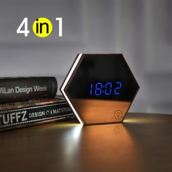 The mirror&Alarm clock digitaldisplay&night-light&Thermometer 4in1 new design wall clockpresents - intl Price Philippines