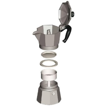 The Original Bialetti Moka Express Made in Italy 6-Cup StovetopEspresso Maker with Patented Valve - intl - 5