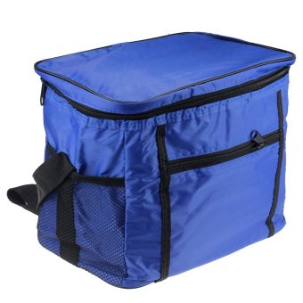 Thermal Cooler Waterproof Insulated Portable Tote Picnic Lunch Bag (Blue)