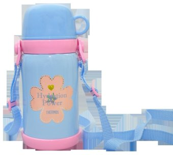 Thermos FET-600W Children Bottle w/ Dual Stopper 600mL (Pearl Blue)