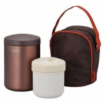 Thermos Vacuum Insulation Food Container/Lunch Set W/bag JBD-3600.36L (Brown) Price Philippines