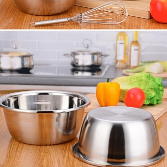Thickened stainless steel mixing bowl 22 cm diameter 1 Piece - intl - 5