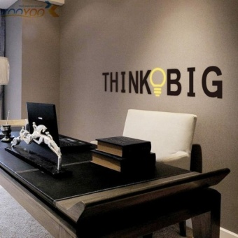 think big quote wall stickers home decorations study room decoration sticker 3d diy vinly wall decals walldecors - intl