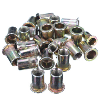 Threaded Carbon Steel Rivet Nut Rivnut Inserts M4. M5. M6. M8. 100 Mixed Pack - 5