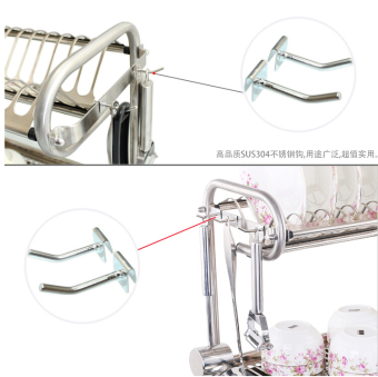Three layer wall hangers-dish rack stainless steel dish rack