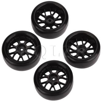 Tires with Wheel Rim for RC 1: 10 On-Road Drift Car Set of 4 Black Price Philippines