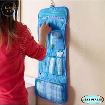 Toiletry Hanging Wash Makeup Cosmetic Organizer Blue