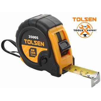 Tolsen Heavy Duty Measuring Tape (5Mx19mm) w/ 3 Stop ButtonFunction