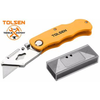 Tolsen Utility Knife Aluminium Handle (Folding 61*19mm) BladeCutter
